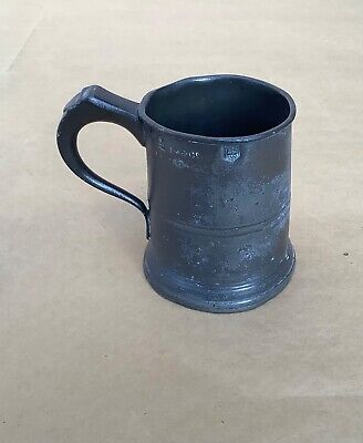 Antique Victorian Dorset Pewter Half-Pint Tankard (Corf).