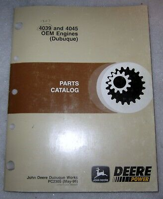 John Deere 4039 4045 Oem Engines Dubuque Parts Catalog Pc2305 May-96
