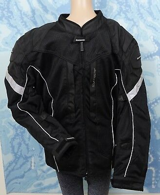 TourMaster black Sonora 3/4 Air Men's Textile Motorcycle Jacket, size L/ 44