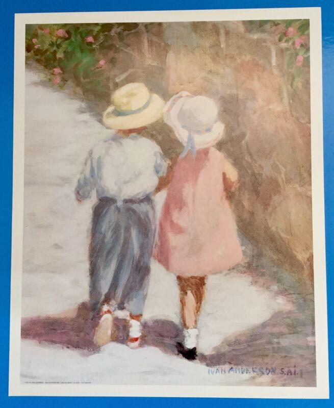*Vintage* SECRETS Little Boy & Girl IVAN ANDERSON Large 16 x 20 1980
