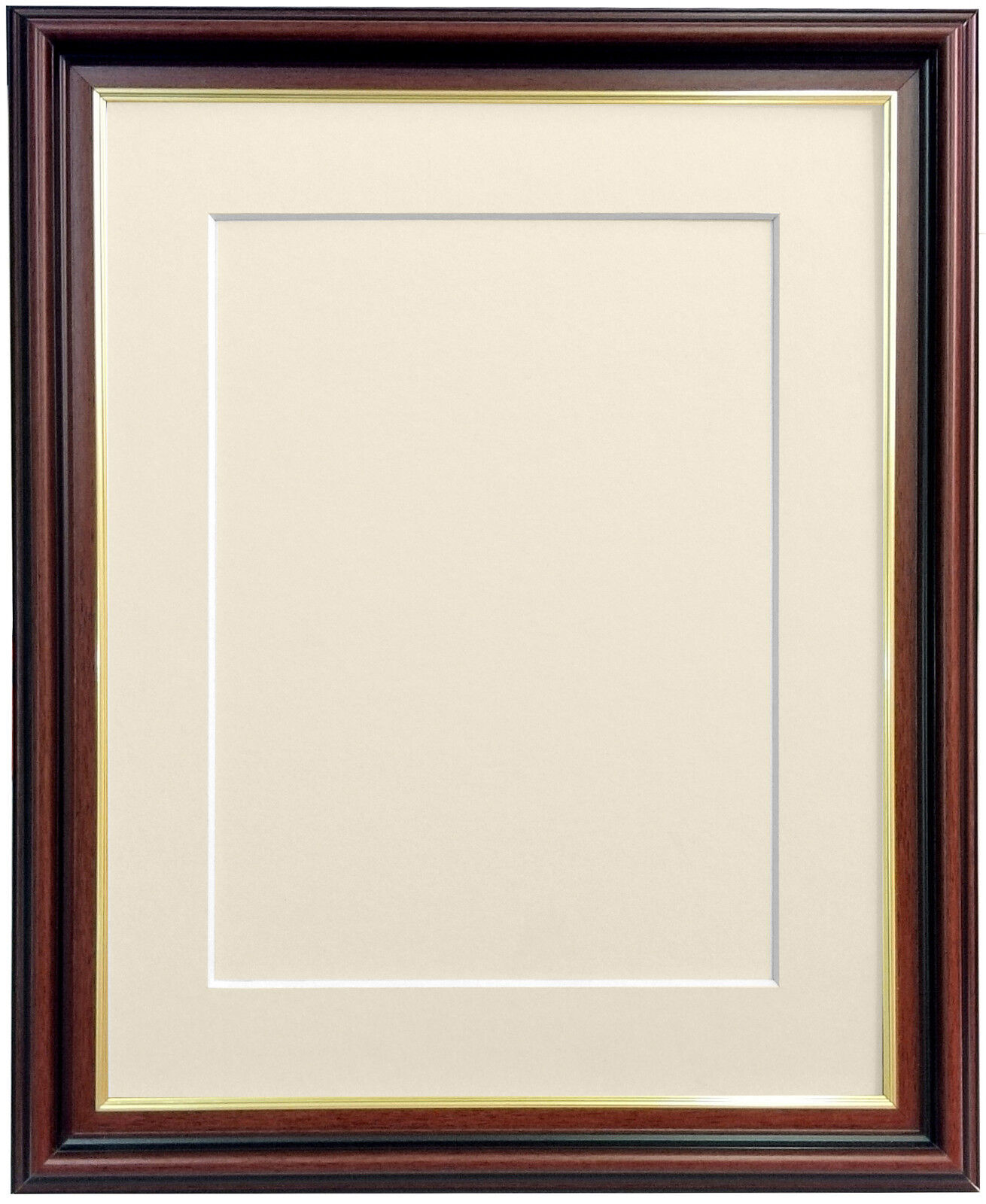 Sandhurst Mahogany Picture Photo Frame & Mount and Backing Boards ...