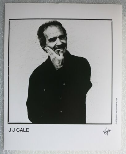 "J. J. CALE (1996) - Old Matt Black & White Press Photo 10"" x 8"" Folk Rock /Blues"
