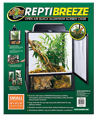 Zoo Med ReptiBreeze Aluminum Screen Cage (Small - 16x16x20)