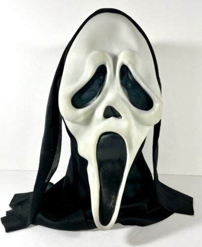 Scream Ghost Face Mask - Easter Unlimited - Glows in Dark - vtg 90