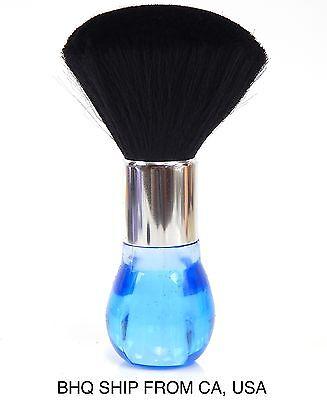 Neck Duster Brush for Salon Stylist Barber Hair Cutting Make Up, Body - Blue