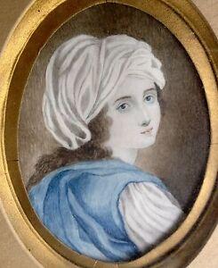 Antique miniature  portrait of good quality