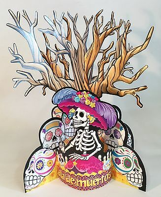 Day Of The Dead Decor (INCREDIBLE TABLETOP DECORATION!!  DIA DE MUERTOS - DAY OF THE DEAD)