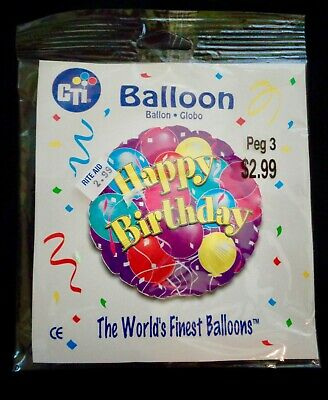 Happy Birthday Multi-Colored Mylar Ballon](Mylar Ballon)