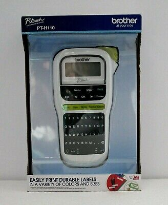 Brother P-touch Labeling System Label Printer Pt-h110 Brand New In Retail Box