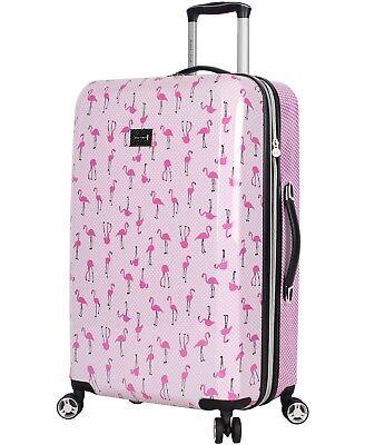 "Betsey Johnson Luggage Hardside 26"" Suitcase With Spinner Wheels"