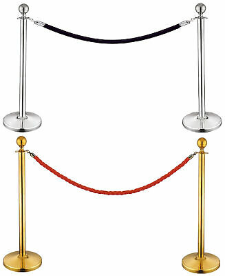 Stanchion Set/Post/Rope Velvet Velour VIP Crowd Control Queue Line Barrier 12004 - Stanchion Rope