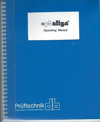 Operating Manual - Optalign - Laser Alignment Tool System - 08/89 (E4502) - Systeme, Laser Alignment Tool