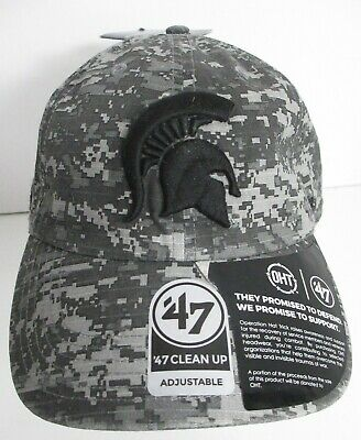 Michigan State Embroidery - Spartans Michigan State Hat Cap Camouflage OHT 47 Brand Embroidery Strapback