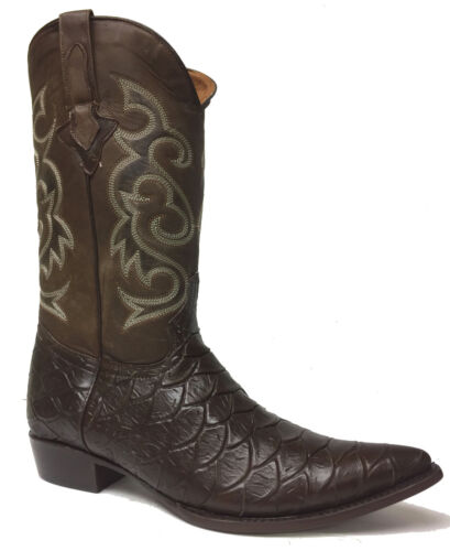 Mens, Brown, Ananconda, Ant, Eater, Print, Leather, Cowboy, Western, Rodeo, Boots, 12.5