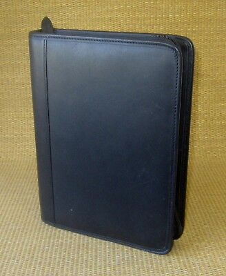 Classic 1.25 Rings Black Leather Kirkland Plannerbinder For Franklin Covey
