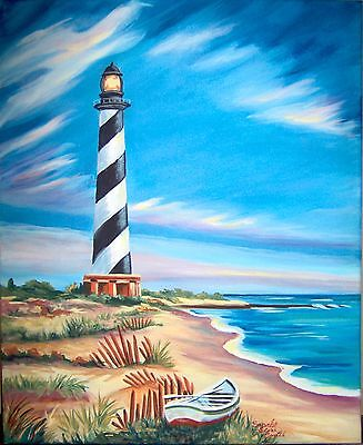 (Printable Wall Art Print Cape Hatterus Lighthouse Home Decor Instant Download)
