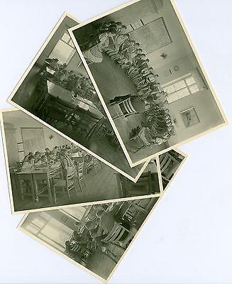 4 Fotos Volksschule Holzhausen 1949 Linz Oberösterreich Schüler Unterricht