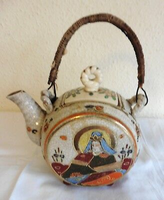JAPON - ANCIENNE THEIERE EN FAIENCE SATSUMA