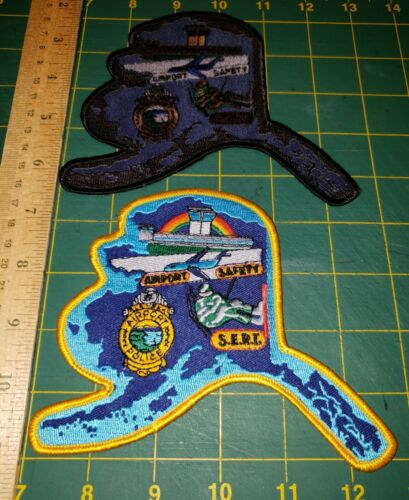 ANCHORAGE ALASKA AIRPORT POLICE PATCH SERT TED STEVENS FAA MARSHAL AIR AVIATION