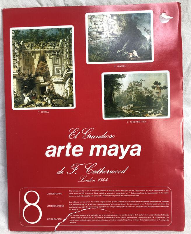 El Grandioso Arte Maya de F. Catherwood London 1844 Lithographs (8)