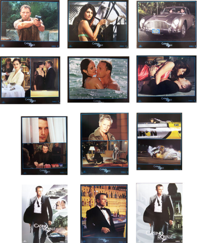 CASINO ROYALE, lobby card set of 12, ,  Daniel Craig, Eva Green, lc2074