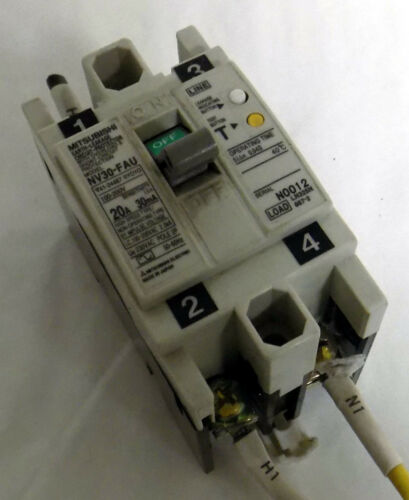 MITSUBISHI MODEL NV30-FAU EARTH-LEAKAGE CIRCUIT PROTECTOR BREAKER
