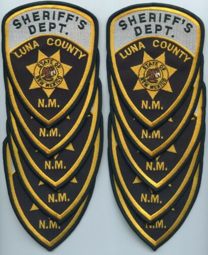 LUNA COUNTY NEW MEXICO NM Trade Stock 10 police patches SHERIFF POLICE PATCH