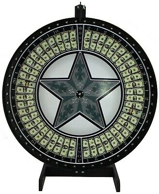 36 Money Game Wheel With Green Star On A Table Stand- Includes Vinyl Laydown