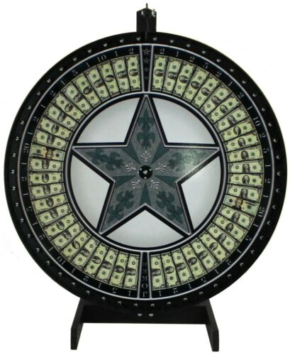 """36"""" Money Game Wheel with Green Star on a table stand- Includes vinyl laydown"""