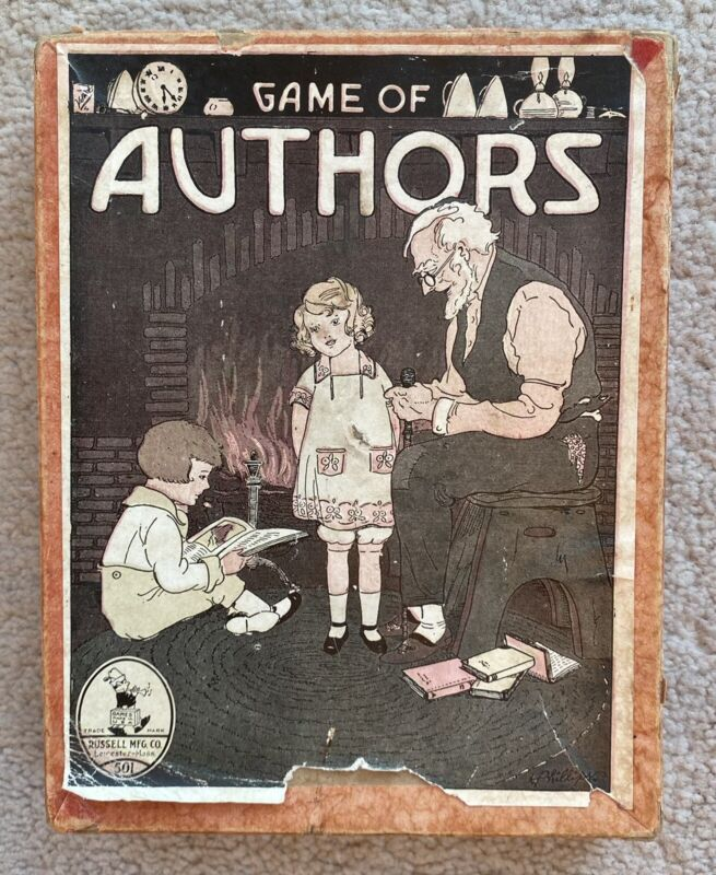 Vintage Game Of Authors Old Maid Card Games Russell Manufacturing