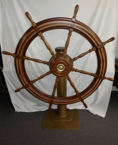 "Antique 60"" Diameter Wooden Ship"