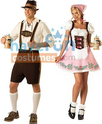 Cat Couple Costumes (Couples Costumes Adult Bavarian Guy and Fetching Fraulein Lady Beer)