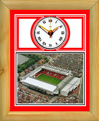 Football Clock Liverpool Anfield Aerial