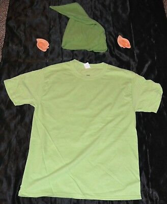 Link From Zelda Shirt, Ears & Hat Halloween Costume Adult Size: Medium M Mens - Link From Zelda Halloween Costumes