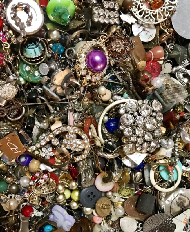 Huge 10lb Vintage to Now ALL WEARABLE  Fashion Costume Jewelry & Watch Lot