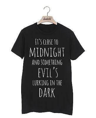 Nahe zu Mitternachts Michael Jackson Thriller Halloween Kostüm Herren T-Shirt (Michael Jackson Thriller-halloween-kostüm)