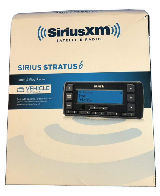 Sirius XM Radio SDSV6V1 Stratus 6 Satellite Radio Receiver + Vehicle Car Kit