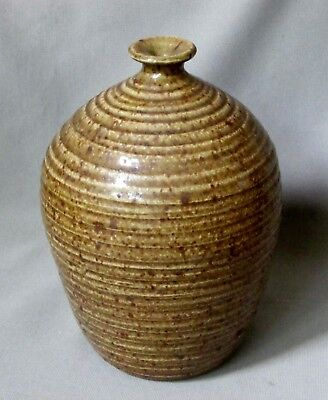 Large, Heavy Weed Pot with Concentric Circle Exterior Texture