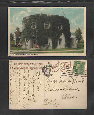 1919 OLD ROUND TOWER SNELLING MINN POSTCARD Old Round Tower