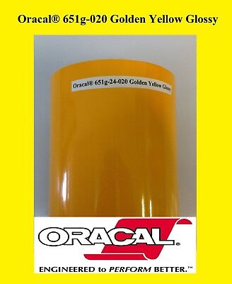 12 X 10 Ft Roll Golden Yellow Glossy Oracal 651 Vinyl Adhesive Plotter Sign 020