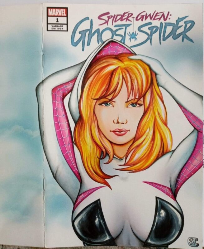 Spider Gwen sketch blank cover + marvel disney
