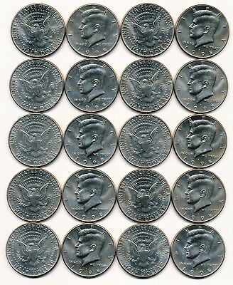 1998 P KENNEDY HALF DOLLAR ROLL 20 COINS $10 ROLL