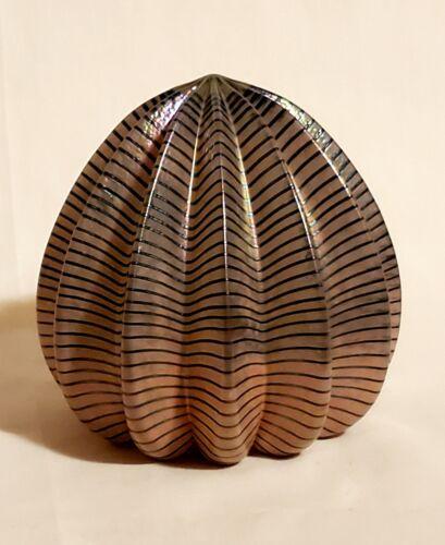 "ROBERT HELD Art Glass Large 4"" Iridescent ""URCHIN"" Paperweight - Signed"