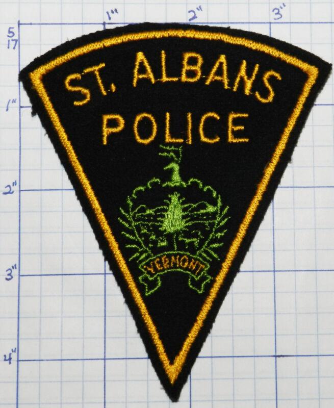 VERMONT, ST. ALBANS POLICE DEPT FELT VERSION 1 PATCH
