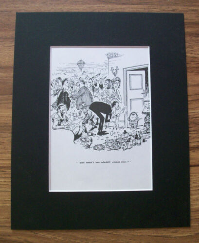 Child Cartoon Print Norman Thelwell Bedtime Rowdy Adults Bookplate 1977 Matted