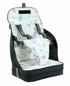 VENTURE Travel Booster Seat High Chair Highchair With 5 Point Harness NEW