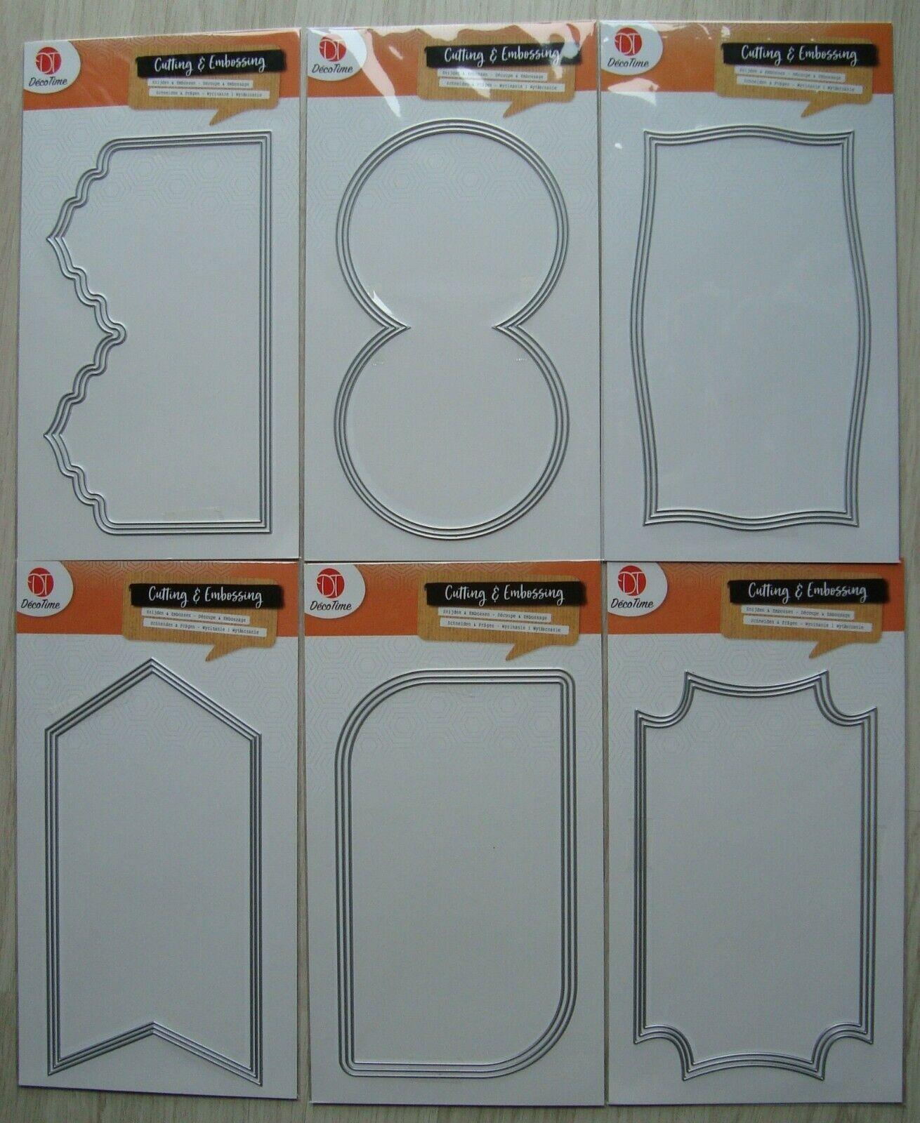 3er Set XL Stanze Cutting Dies - Stanzschablone Prägeschablone Rahmen
