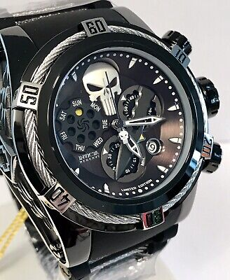 Invicta The Punisher Bolt Zeus Swiss Ronda Z60 Chrono Limited Ed Qtz Mens Watch