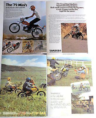 1972 Yamaha Mini-enduro Jt1 Jt2mx Jt2 Ads/ Brochure