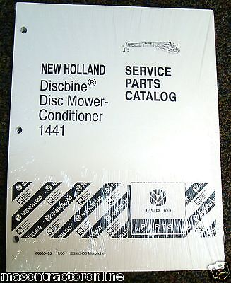 Ford New Holland Tractor Parts Catalog Discbine Disc Mower Conditioner 1441